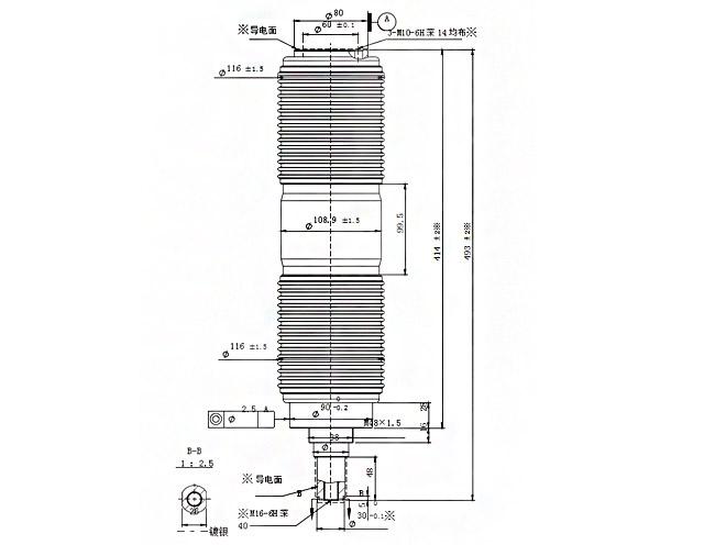 vacuum interrupter 61161a uff0827 5kv  2000a