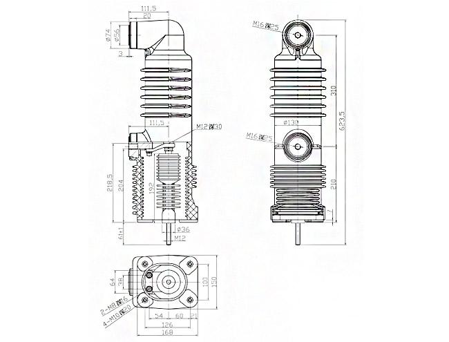 embedded vacuum circuit breaker